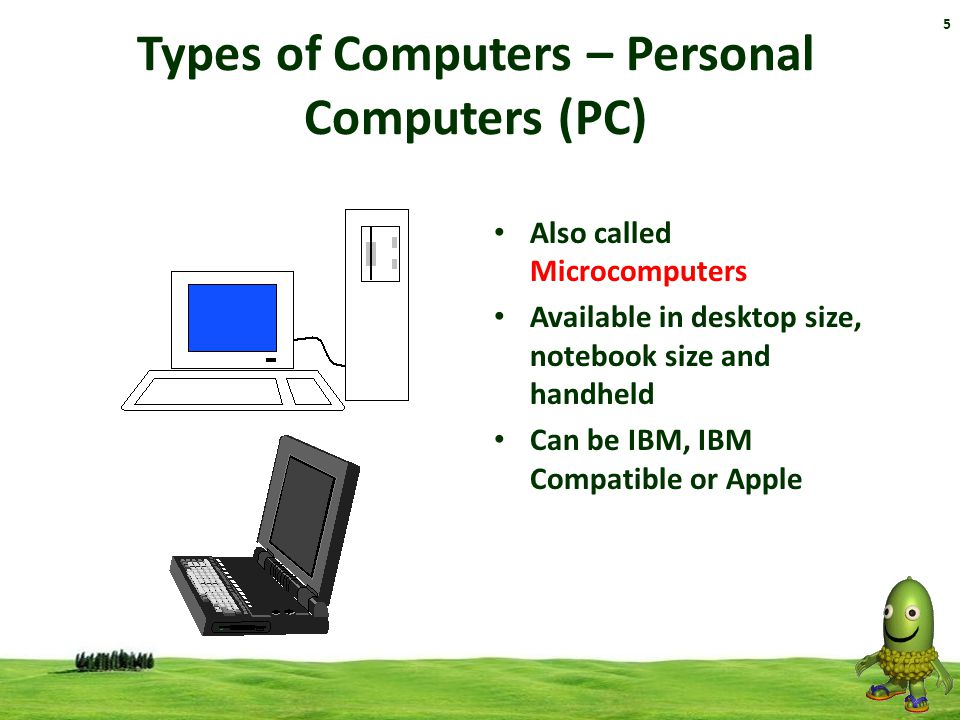 Types of Computers – Personal Computers (PC)