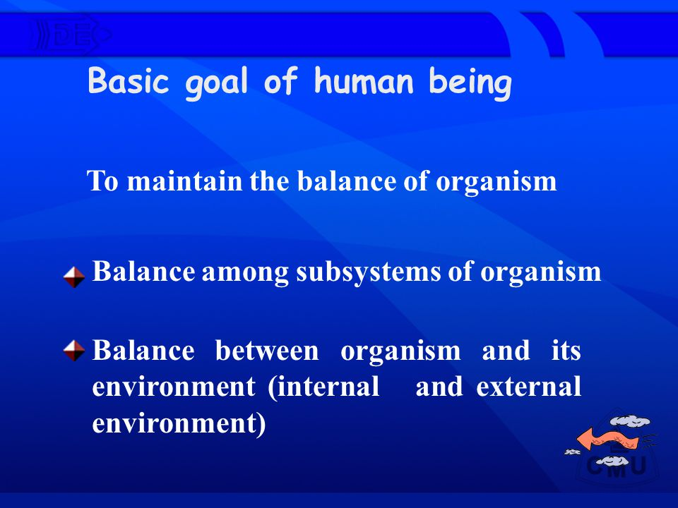 To maintain the balance of organism