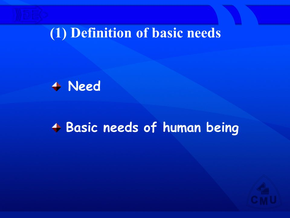 Basic needs of human being