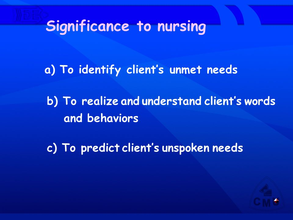 Significance to nursing