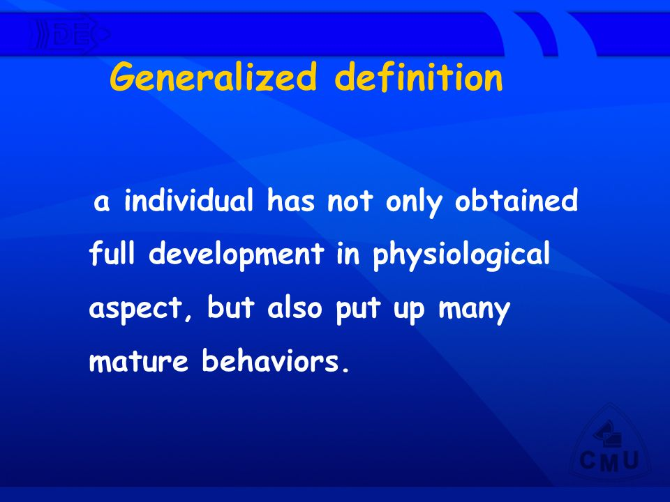 Generalized definition