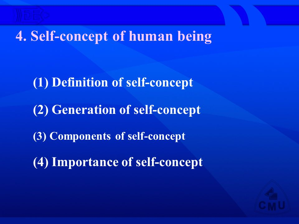 4. Self-concept of human being