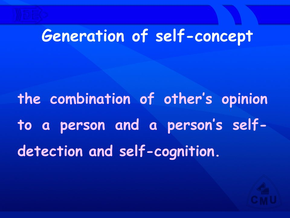 Generation of self-concept