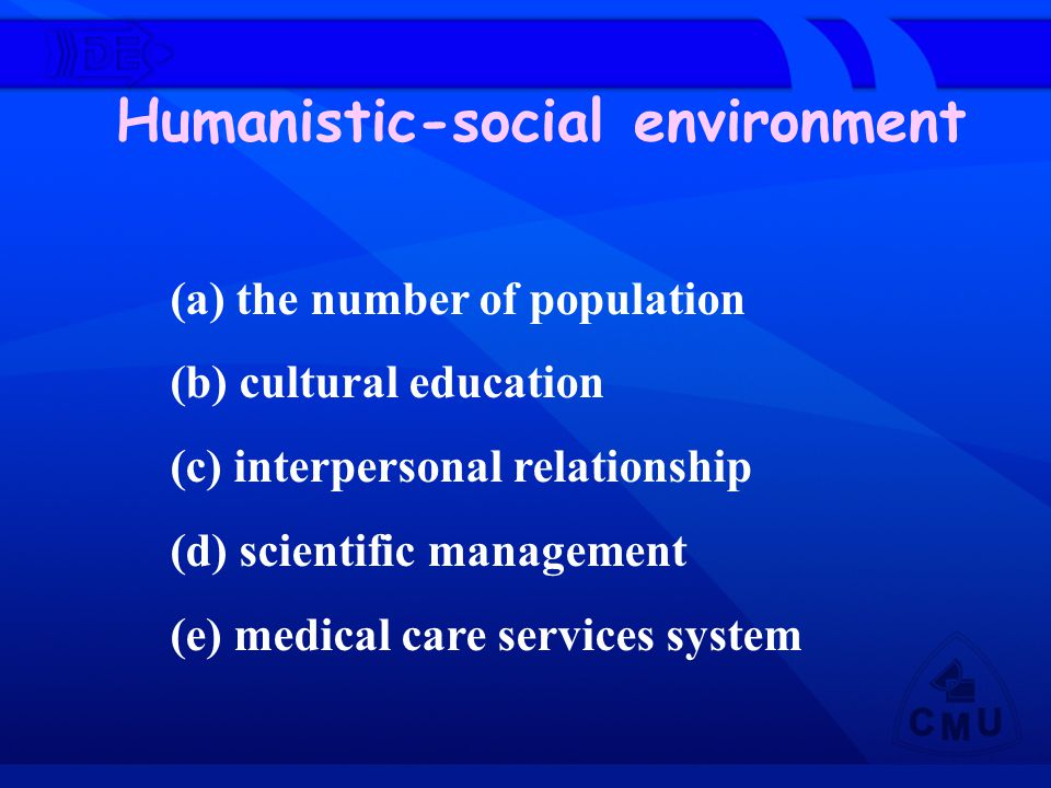 Humanistic-social environment