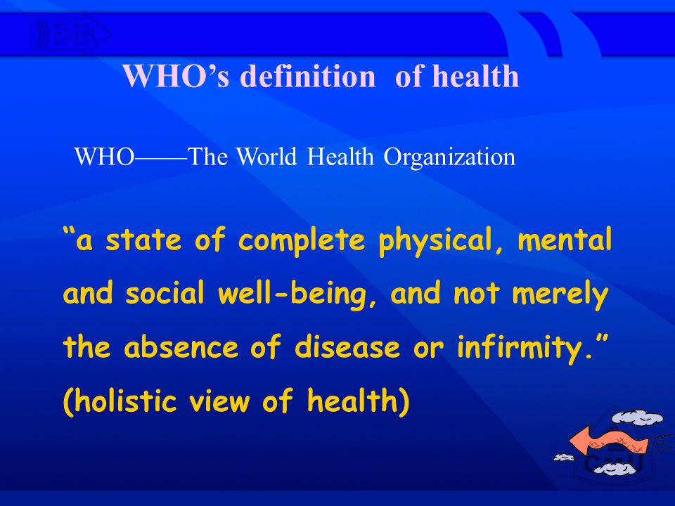 WHO's definition of health