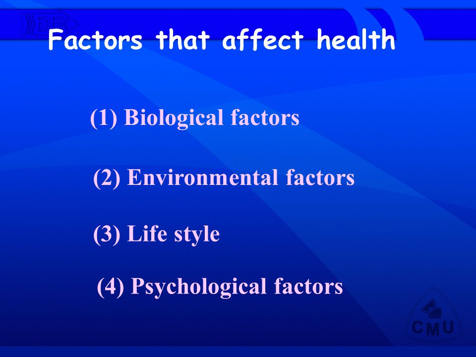 Factors that affect health