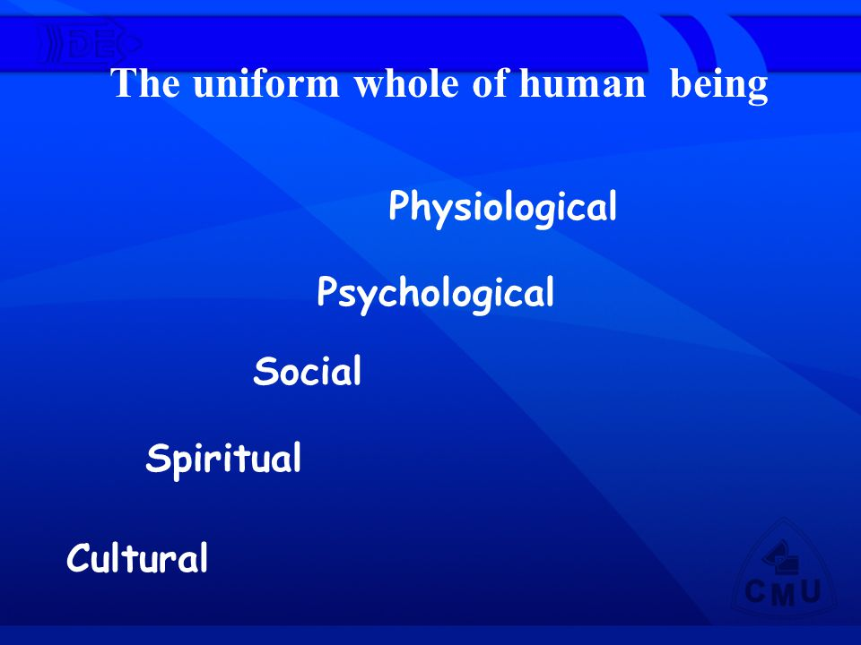 The uniform whole of human being