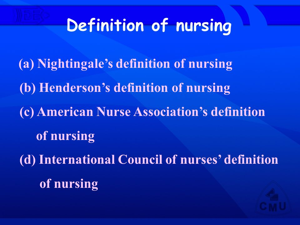 Definition of nursing (b) Henderson's definition of nursing