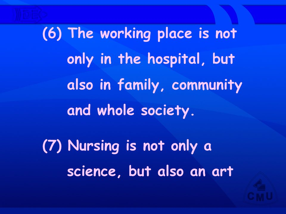 (6) The working place is not