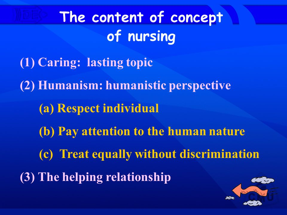 The content of concept of nursing (1) Caring: lasting topic