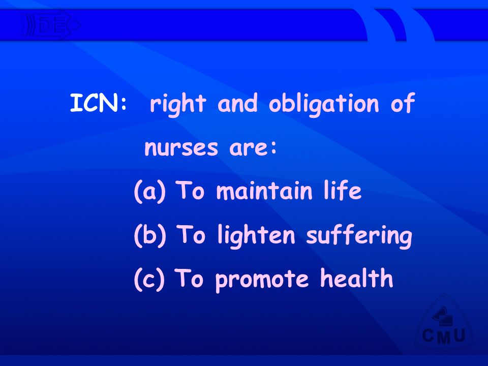 ICN: right and obligation of