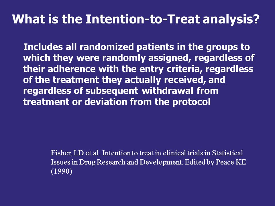 What is the Intention-to-Treat analysis