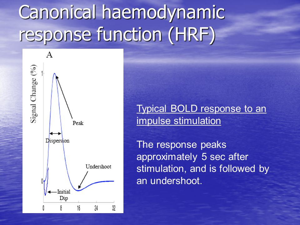 Canonical haemodynamic response function (HRF)