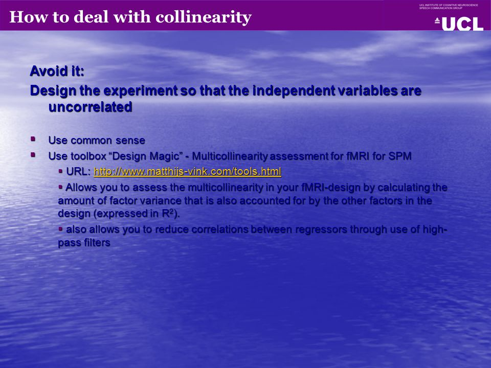 How to deal with collinearity