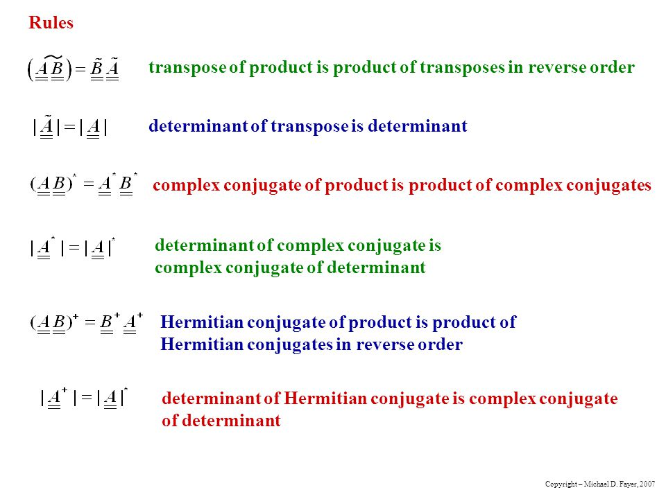 transpose of product is product of transposes in reverse order