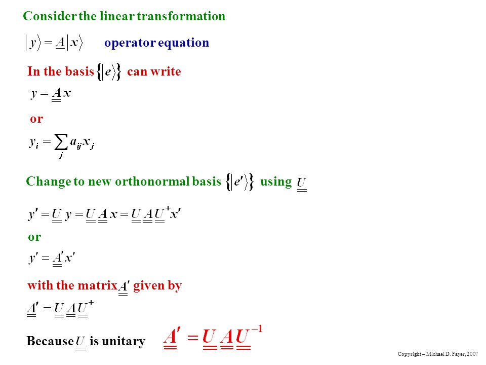 Consider the linear transformation