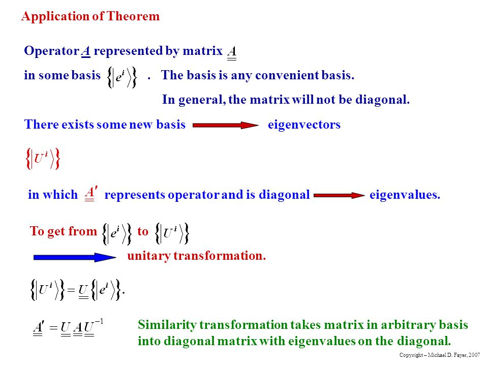 Application of Theorem