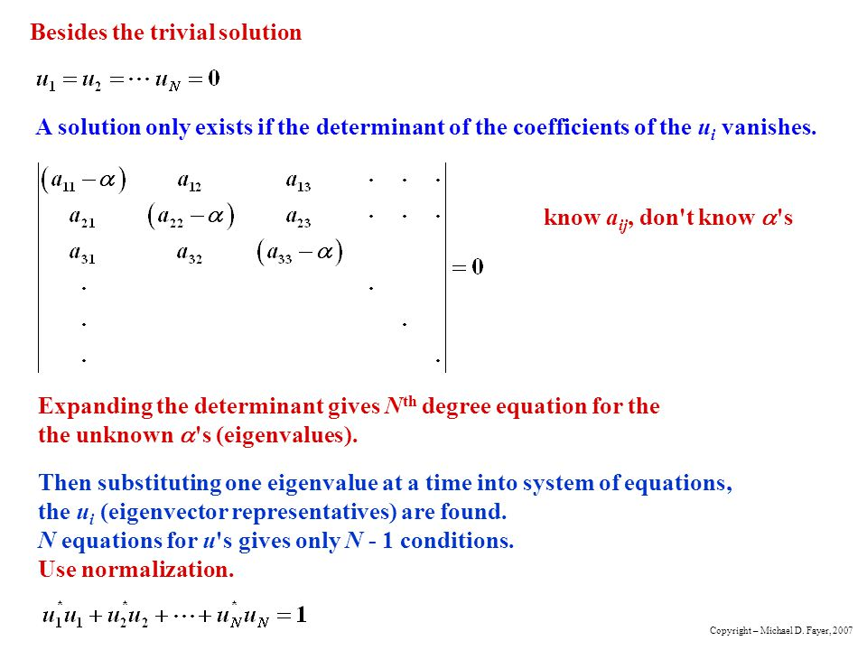 Besides the trivial solution