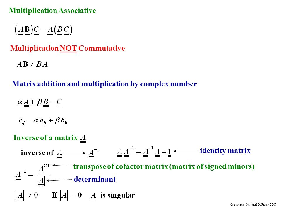 Multiplication Associative