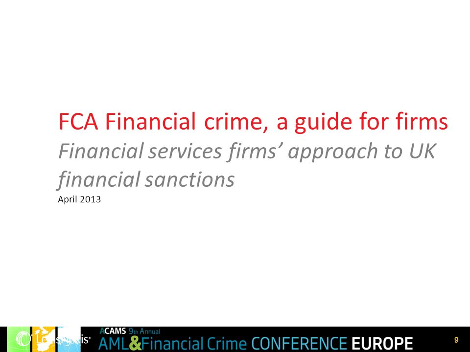 FCA Financial crime, a guide for firms