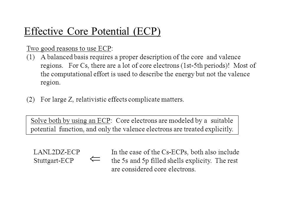 Effective Core Potential (ECP)