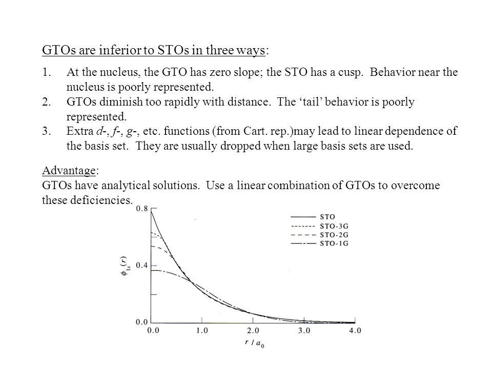 GTOs are inferior to STOs in three ways: