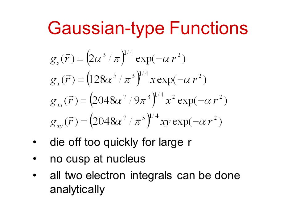 Gaussian-type Functions