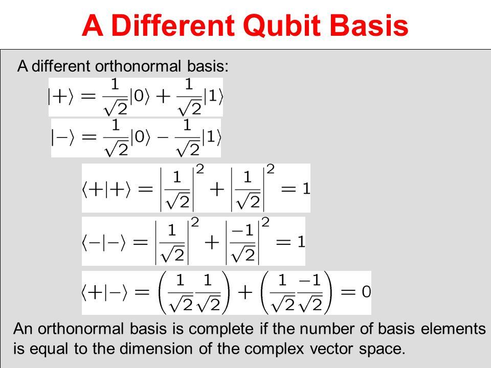 A Different Qubit Basis