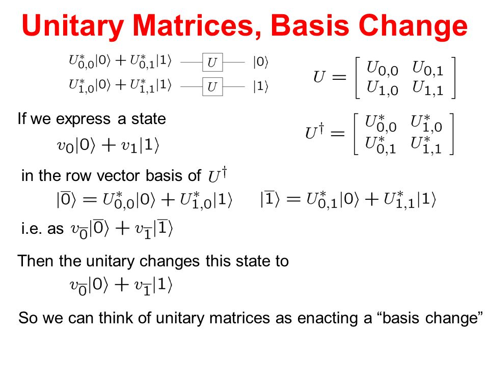 Unitary Matrices, Basis Change