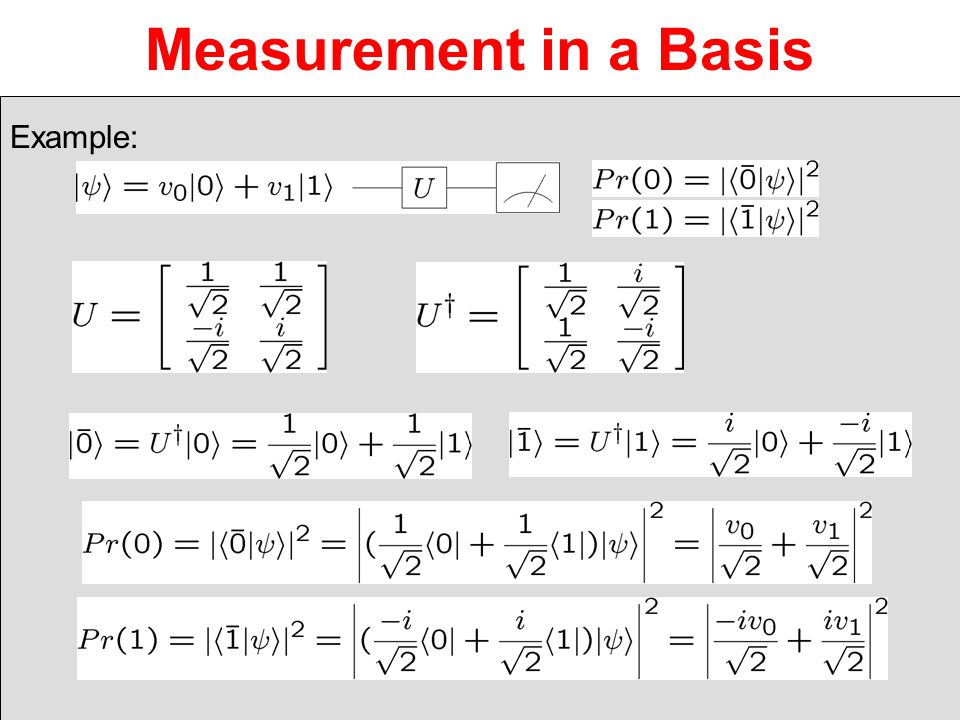 Measurement in a Basis Example: