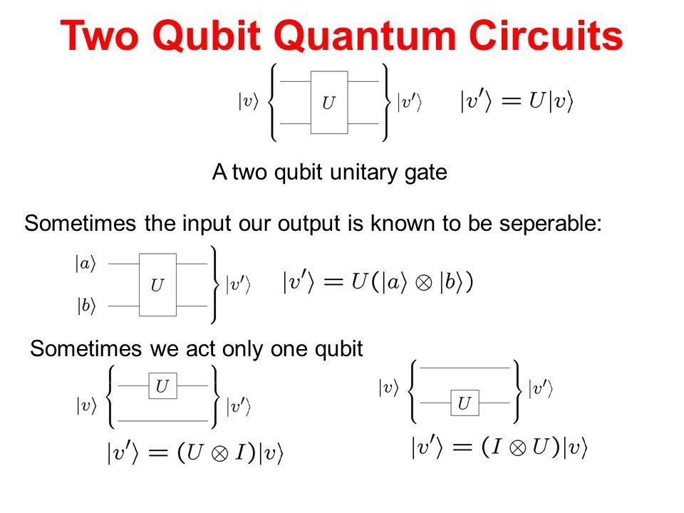Two Qubit Quantum Circuits