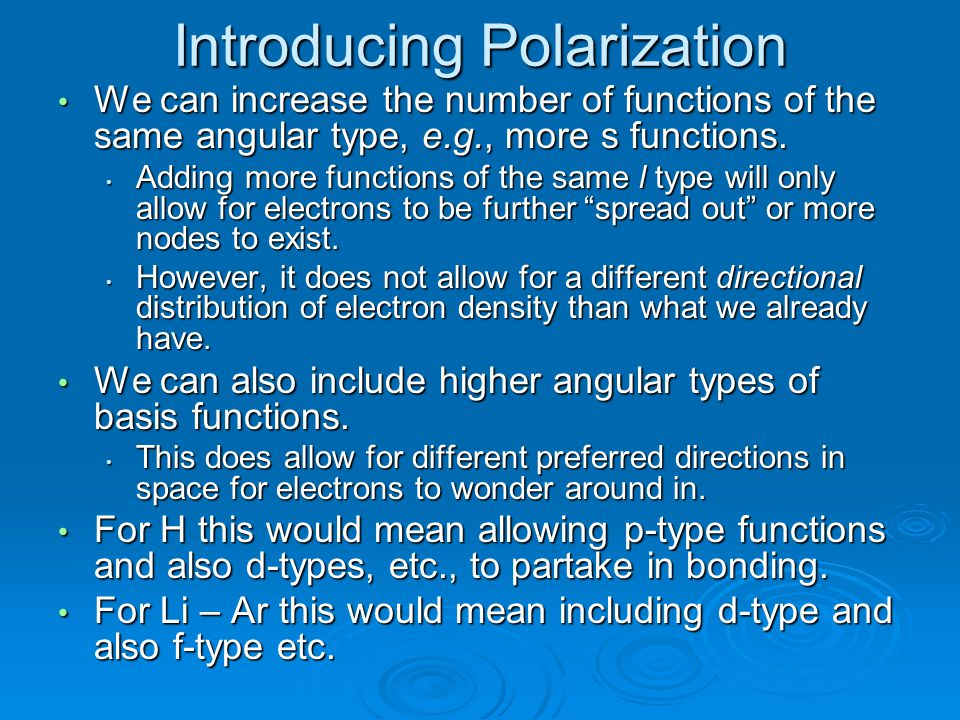 Introducing Polarization