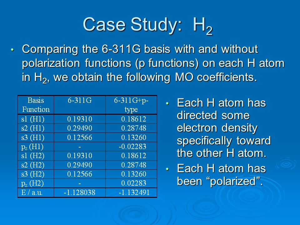 Case Study: H2