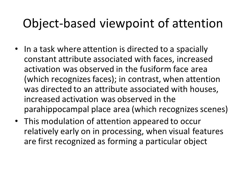 Object-based viewpoint of attention