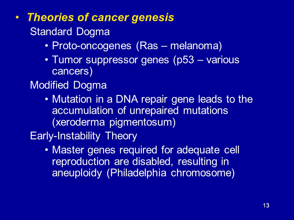 Theories of cancer genesis