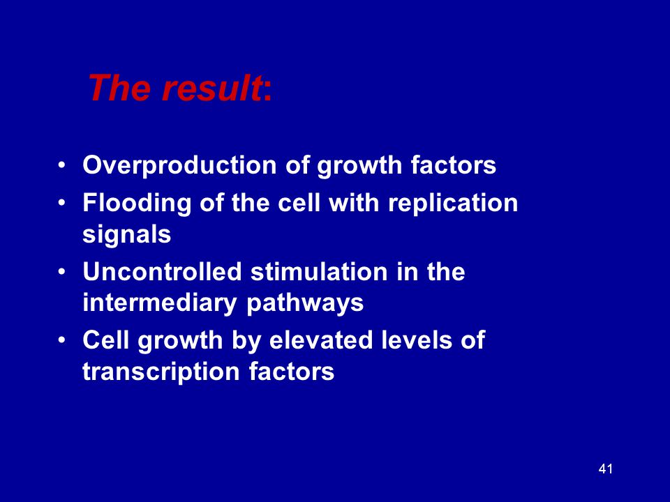 The result: Overproduction of growth factors