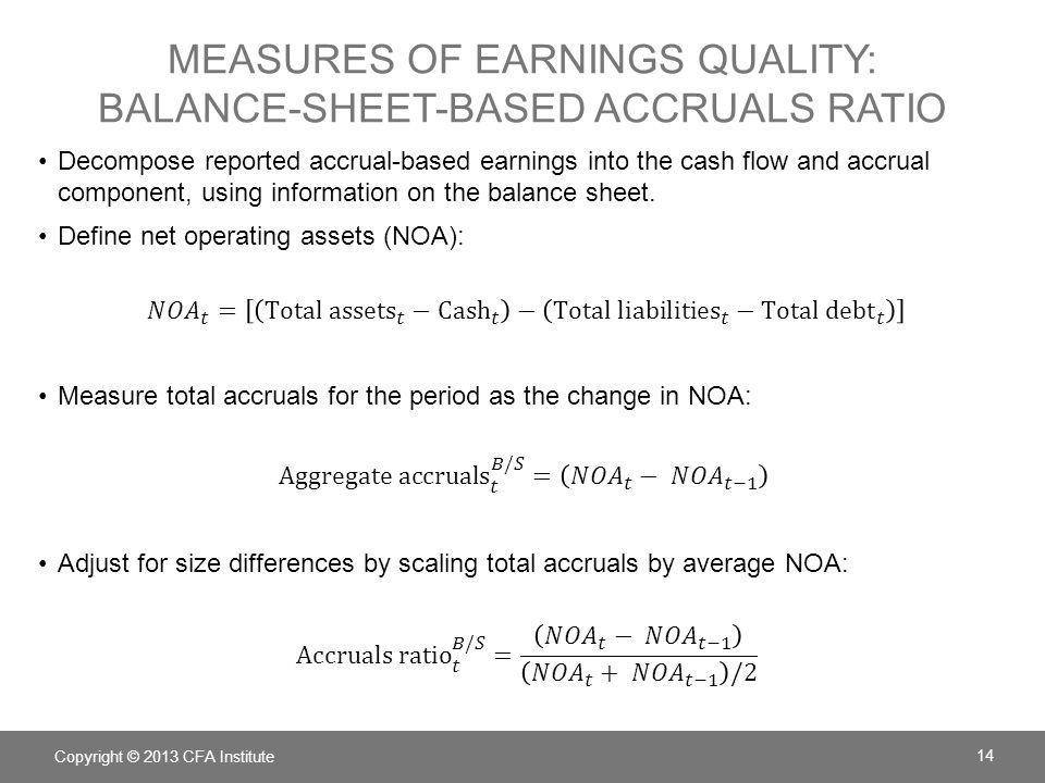 measures of earnings quality: balance-sheet-based accruals ratio