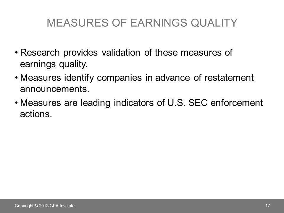 measures of earnings quality