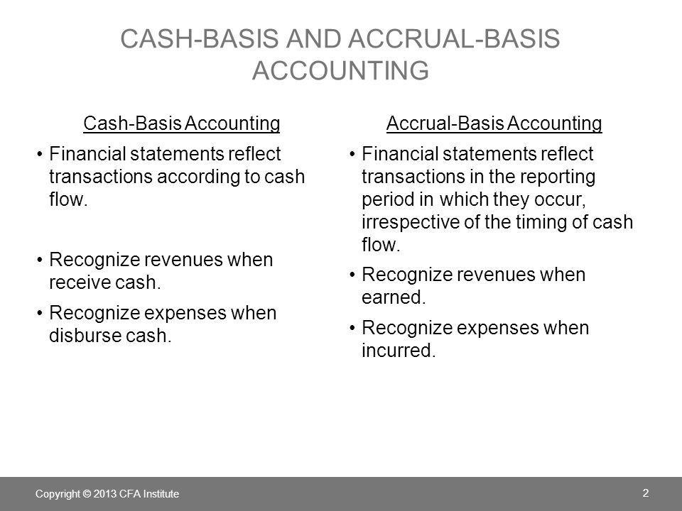 cash-basis and accrual-basis accounting