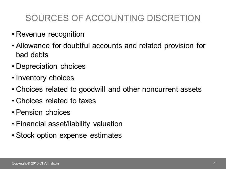 sources of accounting discretion