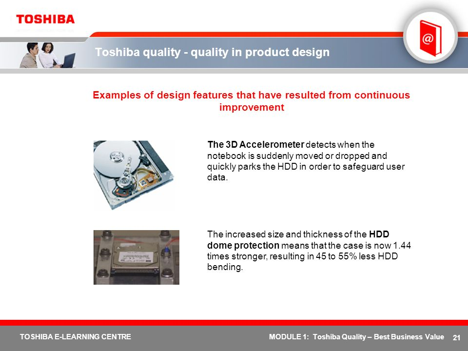 Toshiba quality - quality in product design