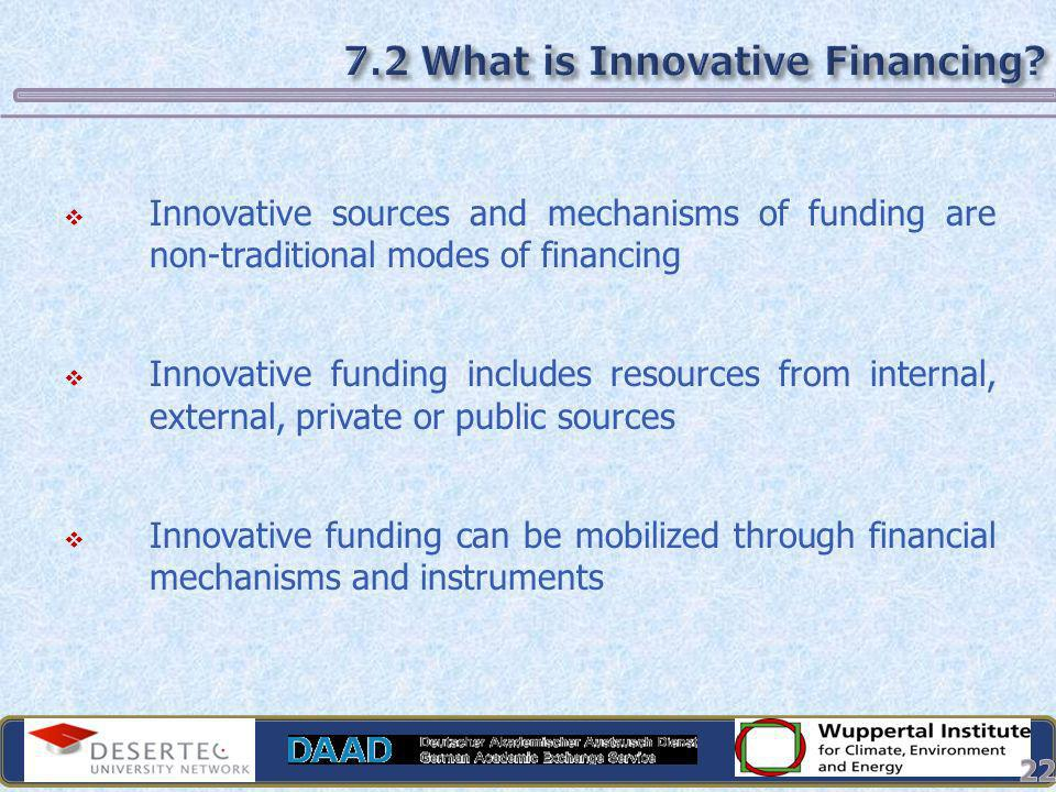 7.2 What is Innovative Financing