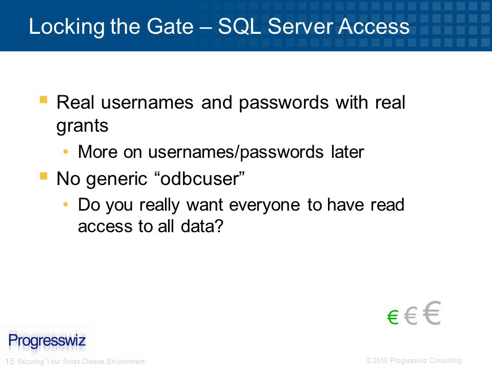 Locking the Gate – SQL Server Access