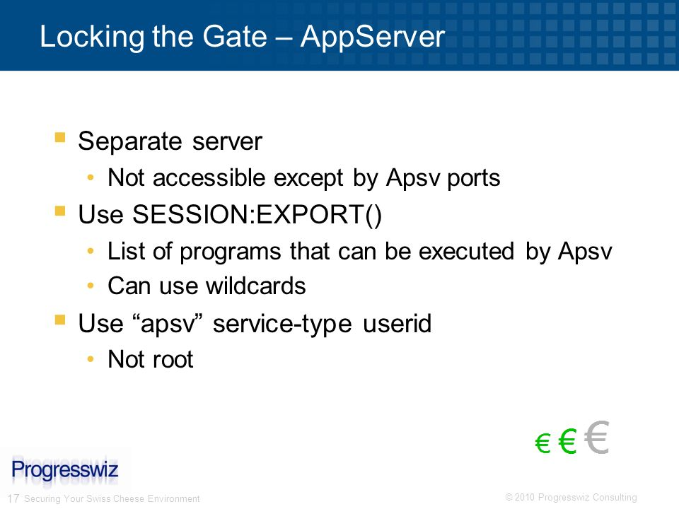 Locking the Gate – AppServer