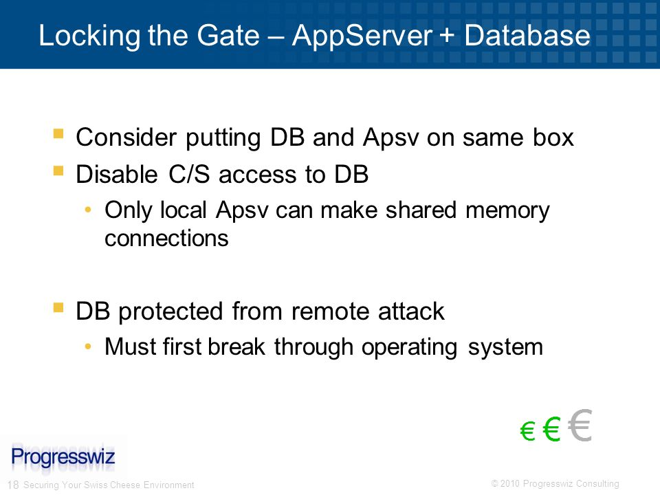 Locking the Gate – AppServer + Database