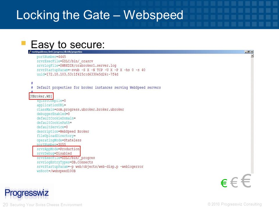 Locking the Gate – Webspeed