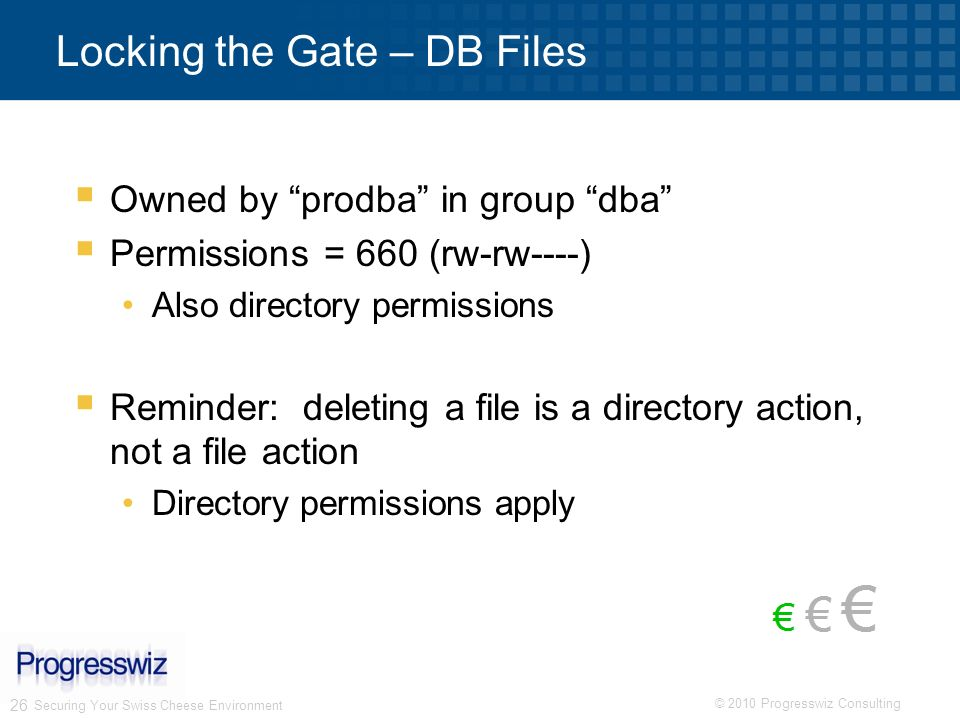Locking the Gate – DB Files
