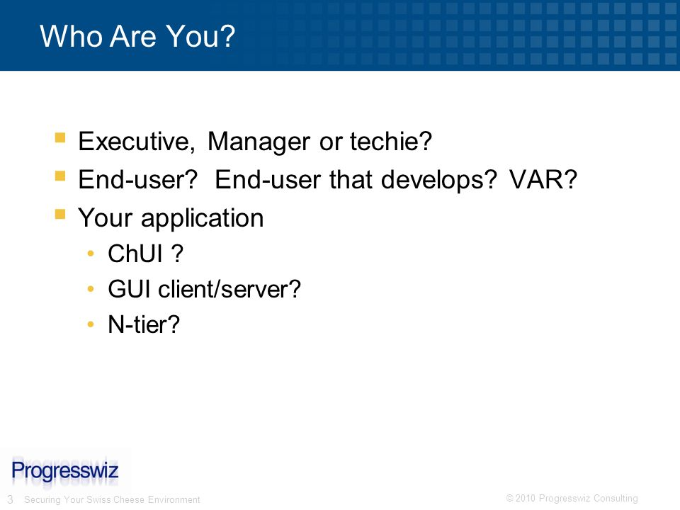 Who Are You Executive, Manager or techie