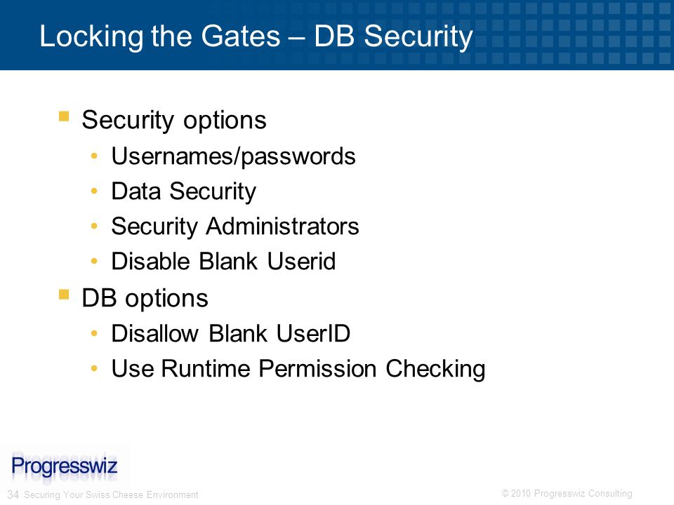 Locking the Gates – DB Security