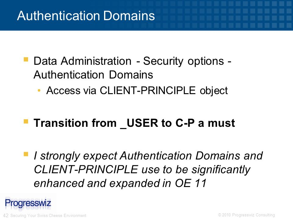 Authentication Domains
